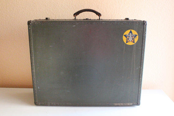 WWII Naval suitcase