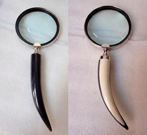 Horn-Shape Handheld Magnifying Glass