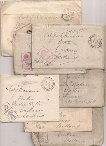 Lot of Seven WWI British Officers' Letters, 1918
