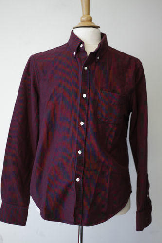 Red and Navy Corded Shirt