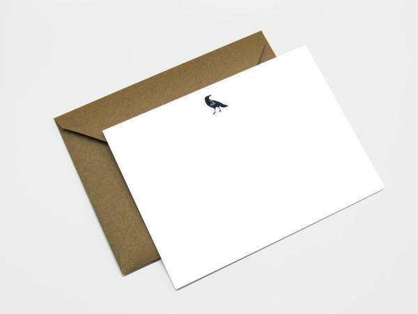 Set of Six Crow A6 Note Cards