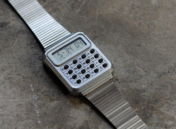 Vintage LCD Digital Calculator Watch