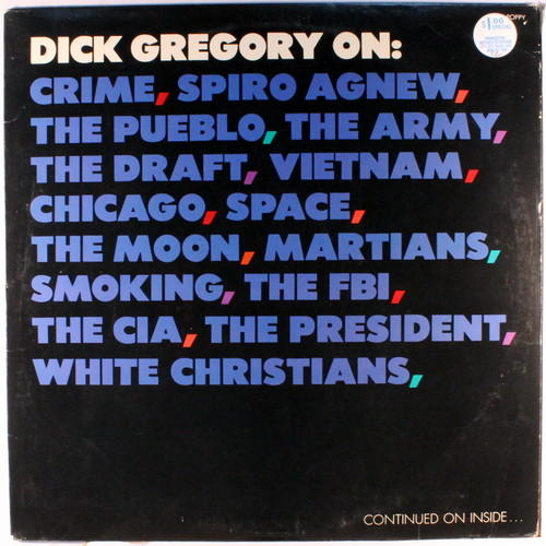 Dick Gregory, &lt;i&gt;Dick Gregory On:&lt;/i&gt;, 1969