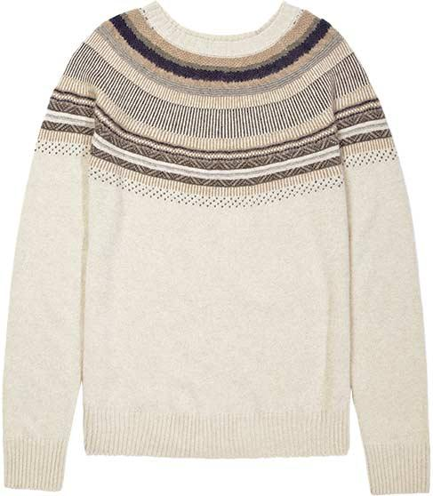 Oatmeal Fair Isle Crew-Neck Sweater