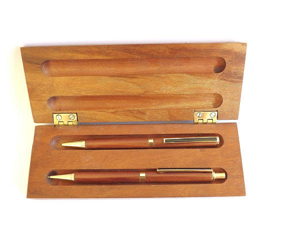 Vintage Handmade Pen and Pencil Set