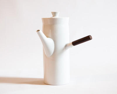 White Ceramic Coffee Pot