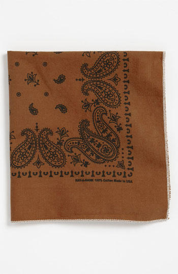 Brown Handkerchief/Pocket Square