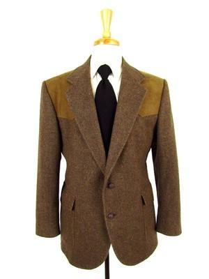 Brown Tweed Western Blazer