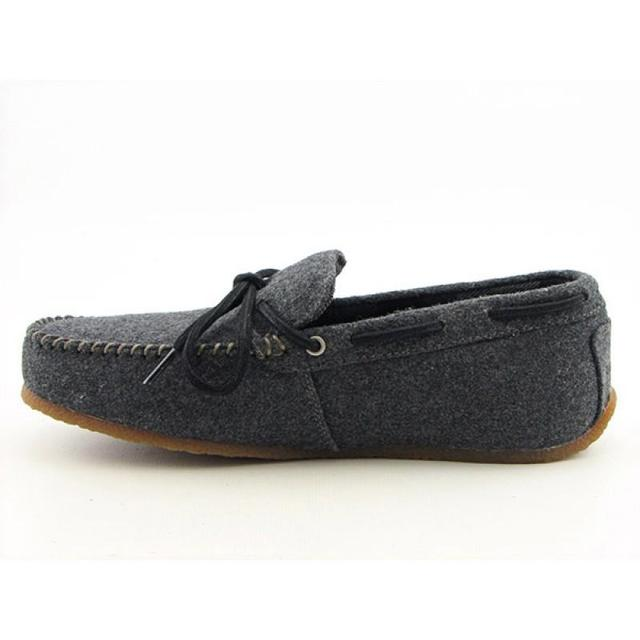 Gray Wool Slippers