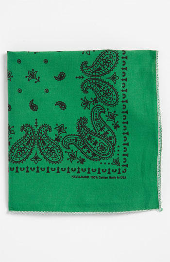 Green Handkerchief/Pocket Square