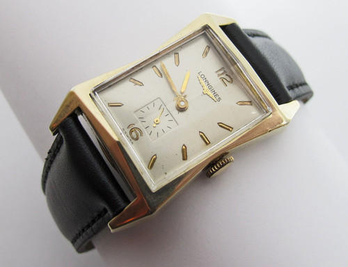 1952 Black Leather Watch