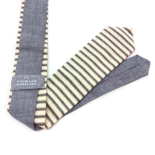 Hickory Stripe and Chambray Tie