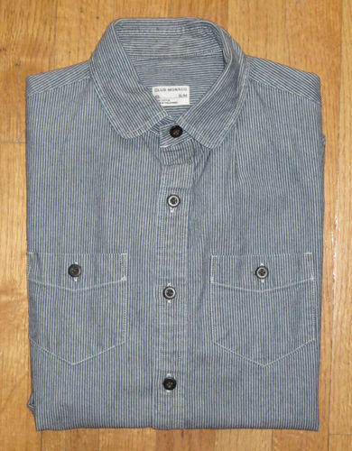 Hickory Stripe Denim Shirt