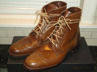 Cordovan Wing-Tip Boots