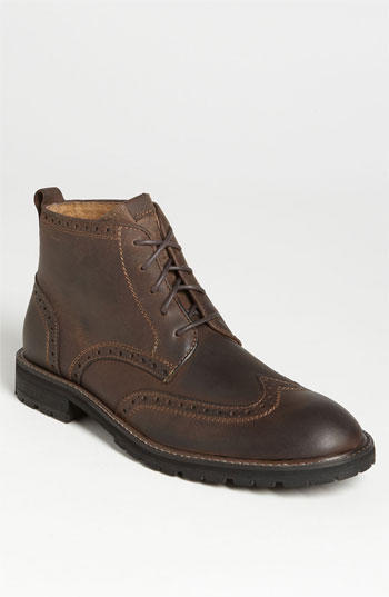 """Gaffney"" Wing-Tip Boots"