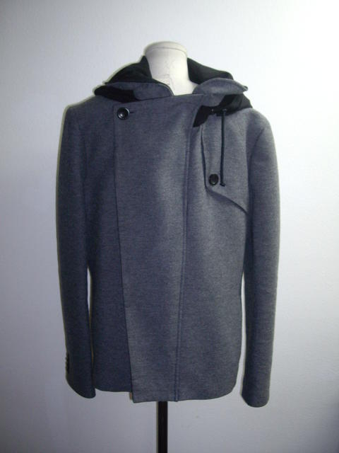 Gray and Black Jacket