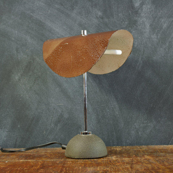 Mid-Century Metal Industrial Desk Lamp