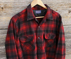 Red Plaid Wool Shirt