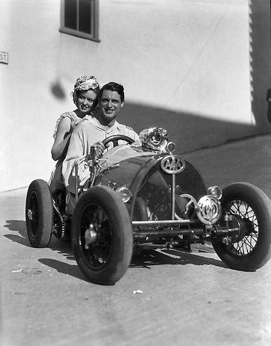 Cary Grant in Midget Race Car Negative