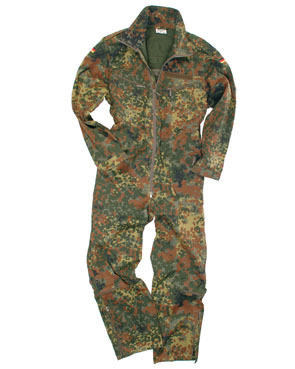 Flecktarn Camo German Military Surplus Coveralls