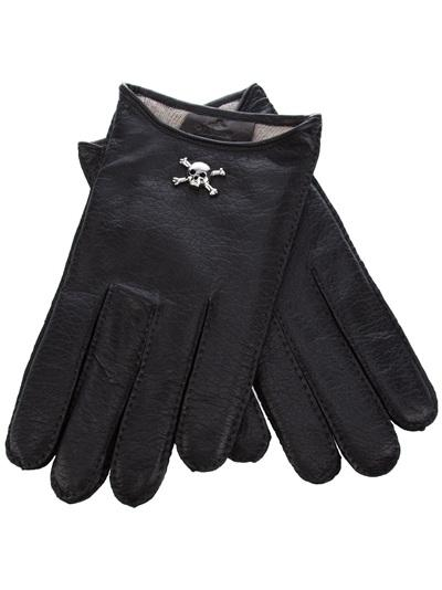 Skull Cropped Gloves