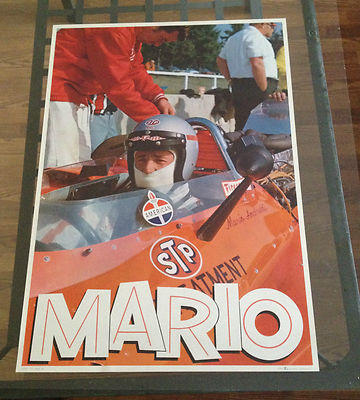 1960's Mario Andretti Formula 1 Poster