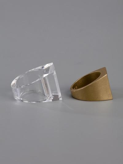 Brass and acrylic rings