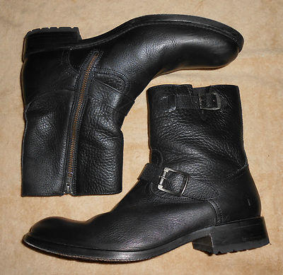 Leather Double Buckle Boots