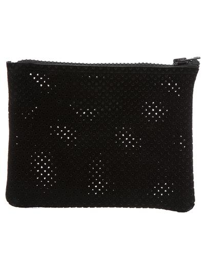 Perforated Suede Wallet