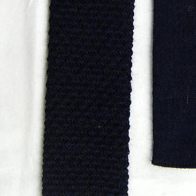 Navy Square-End Knit Necktie