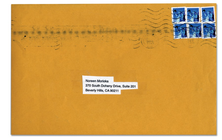 The spineless no return address envelope for the hate mail with corny typography