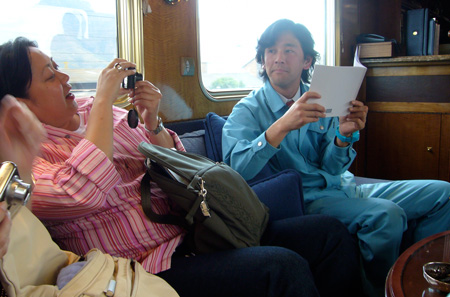 Noreen Morioka and Nobumichi Tosa on the Blue Train