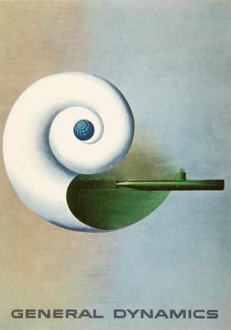 postcard, General Dynamics