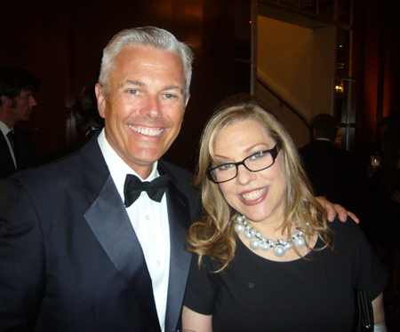 Sean Adams and the wonderfully jewelled Madame President, Debbie Millman