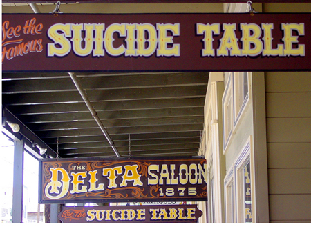 The Suicide Table (not my grandmother's dining room)
