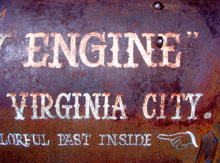 Sign detail, Virginia City, Nevada