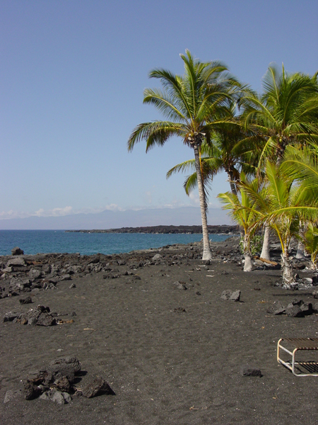 The beach at Kona Village