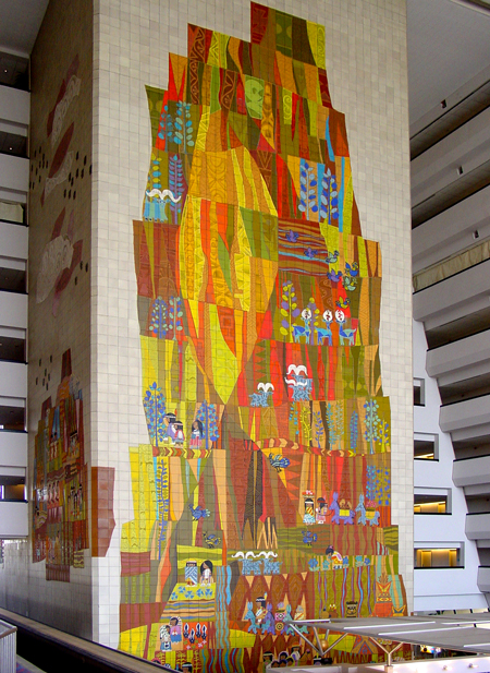 Grand Canyon Concourse mural, Mary Blair designer, Walt Disney World®