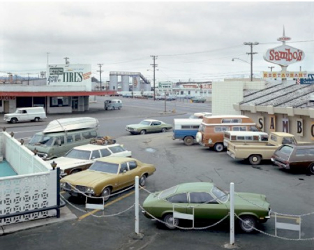 Stephen Shore, 5th St and Broadway Eureka, California 1974