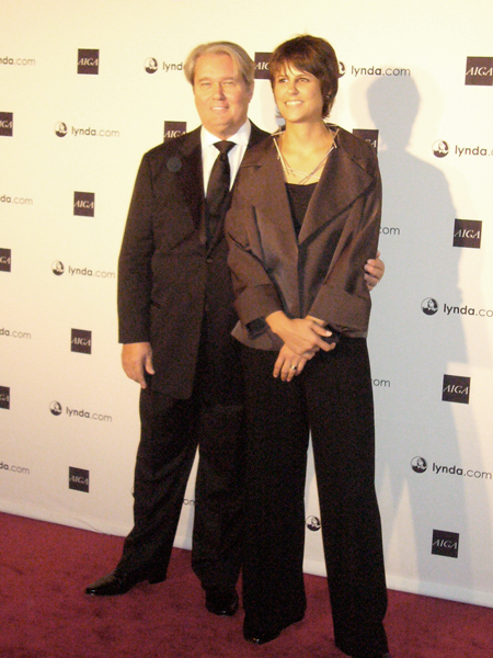 Immaculately dressed Michael Vanderbyl and ever-charming Gaby Brink