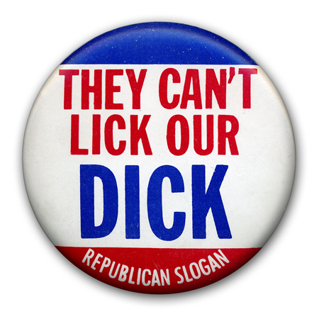 Campaign button for Richard Nixon, 1968