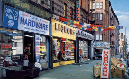 Richard Estes, Supreme Hardware, 1974, oil on canvas