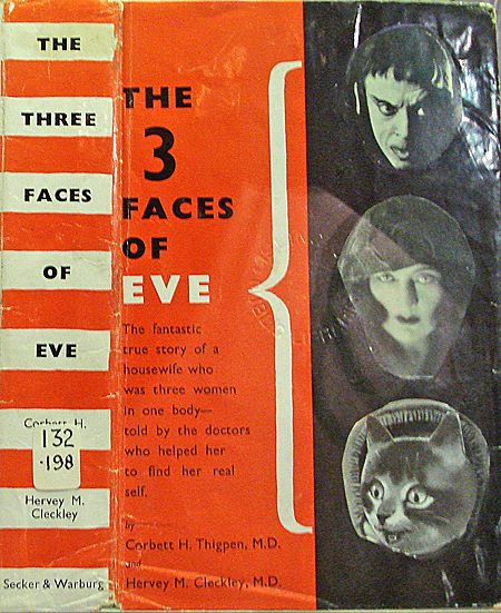 defaced library book, The 3 Faces of Eve