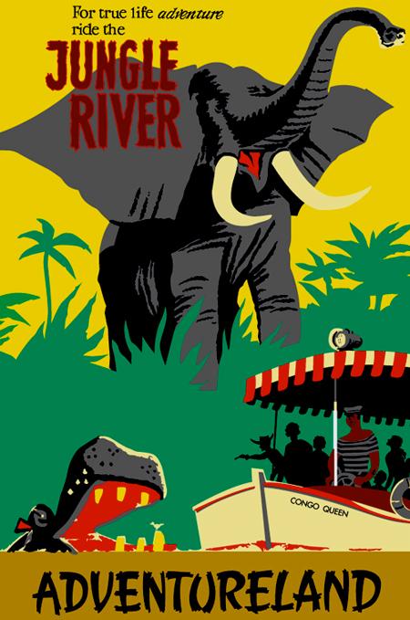 Disneyland Adventureland poster, circa 1955