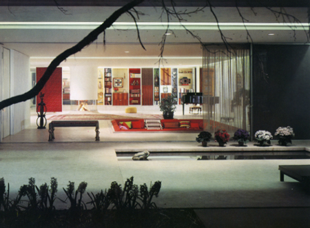 Eero Saarinen, Miller House, 1957, from exterior