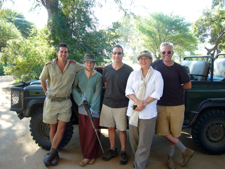 Donald, our ranger, Marian Bantjes, Michael Boshnaick, Sean Adams, Noreen Morioka, Rattrays South Africa, 2008
