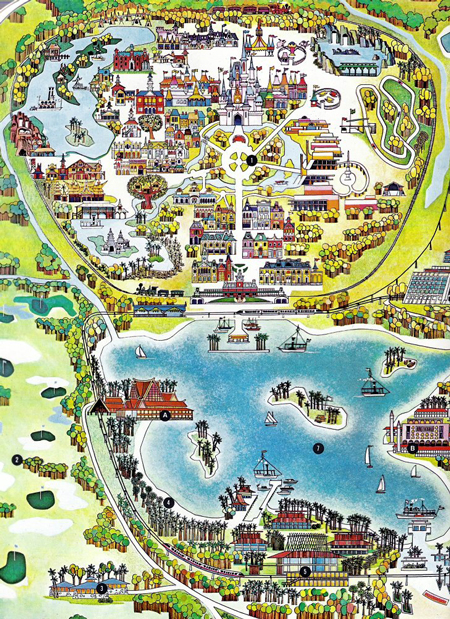 Map, Walt Disney World, 1970