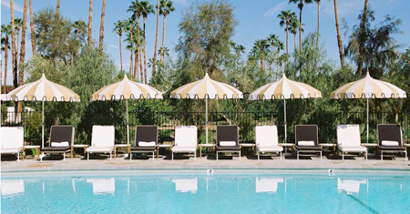 Parker Hotel, Palm Springs, pool. I need the pagoda umbrellas.