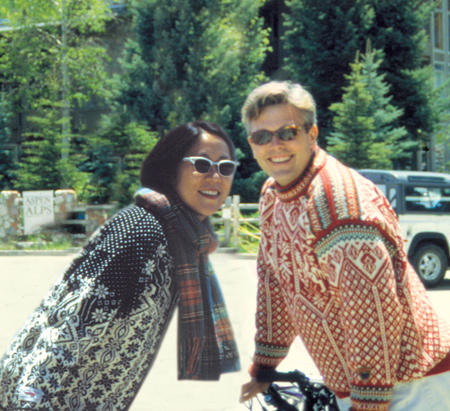 Sean Adams and Noreen Morioka, Aspen, 1996