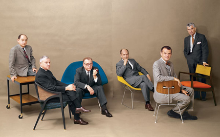 George Nelson, Edward Wormley, Eero Saarinen, Harry Bertoia, Charles Eames and Jens Risom Playboy Magazine, July 1961